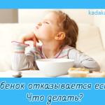 Ребенок отказывается есть. Что делать?