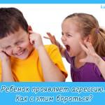 Ребенок проявляет агрессию. Как с этим бороться?