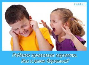 проявление агрессии у детей,
