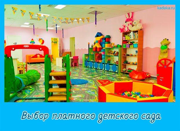 Выбор платного детского сада